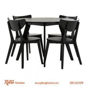 bàn ghế cafe gỗ