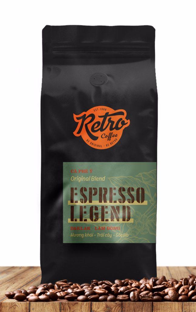 Cafe hạt rang xay Espresso Legend