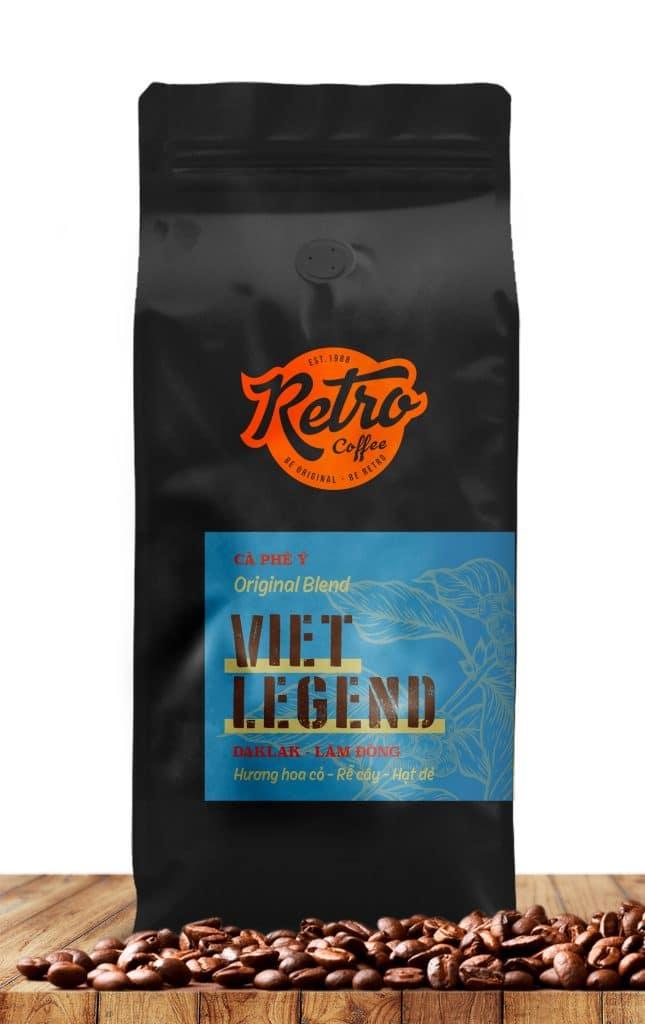 cafe hạt rang xay viet legend
