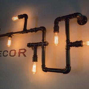 Đèn ống nước trang trí quán cà phê
