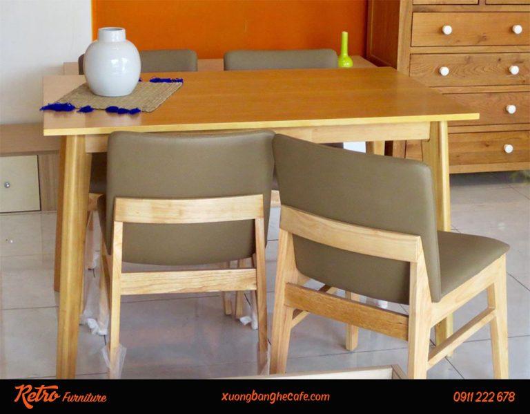 Ghế cafe gỗ bọc nệm