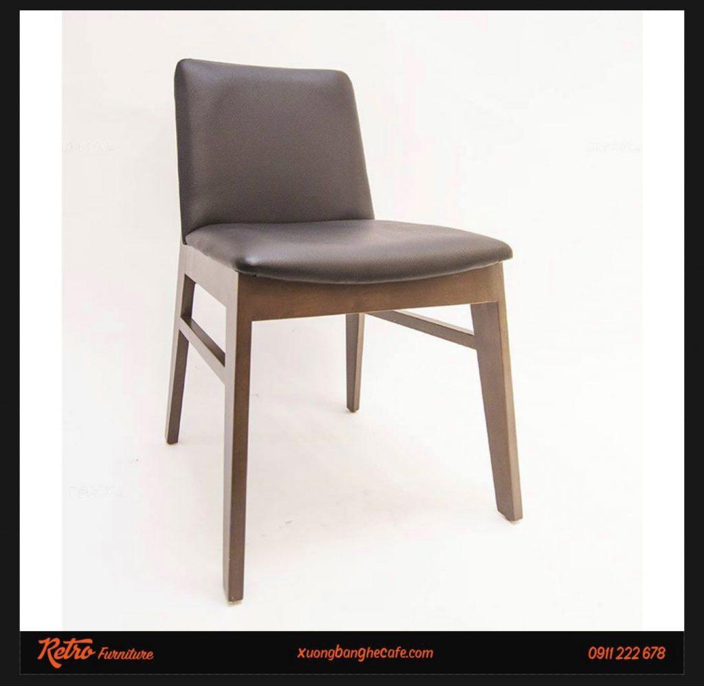 ghế cafe chân gỗ mặt nệm