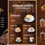 Thiết kế menu quán cafe, định giá bán thức uống chuẩn không cần chỉnh!