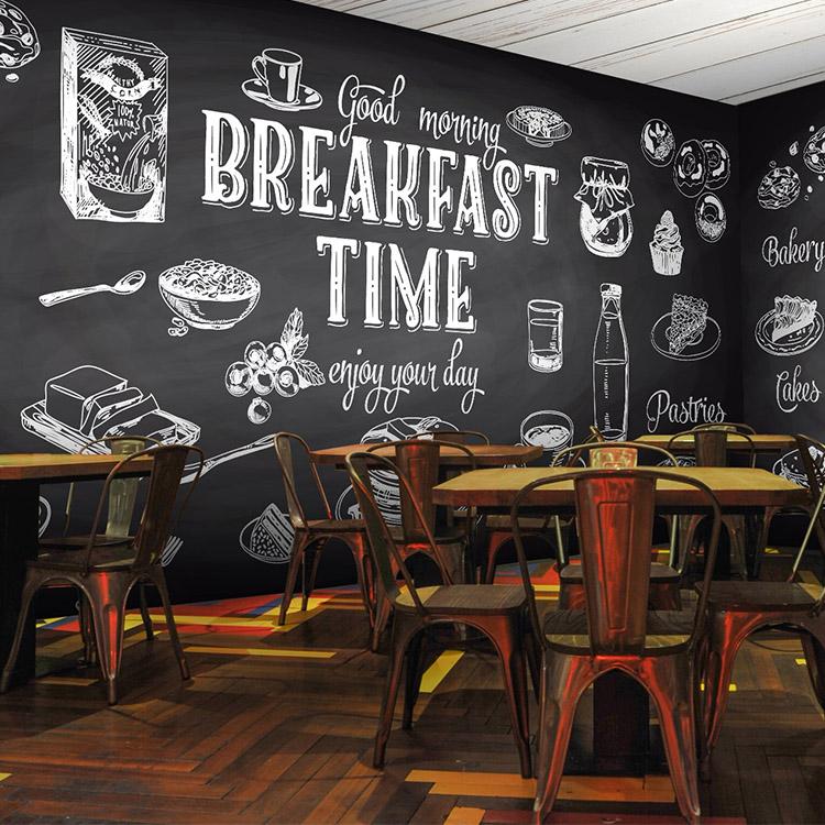 giấy dán tường quán cafe đẹp