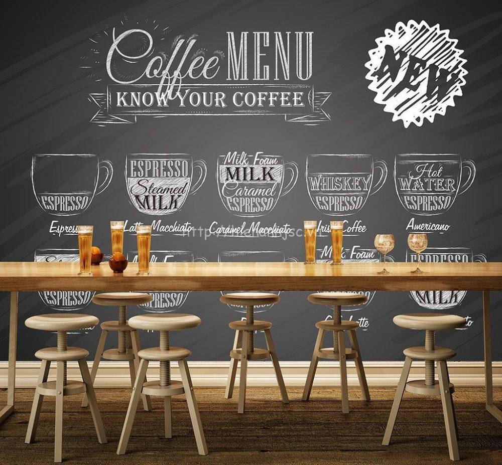 kích thước bàn ghế quán cafe