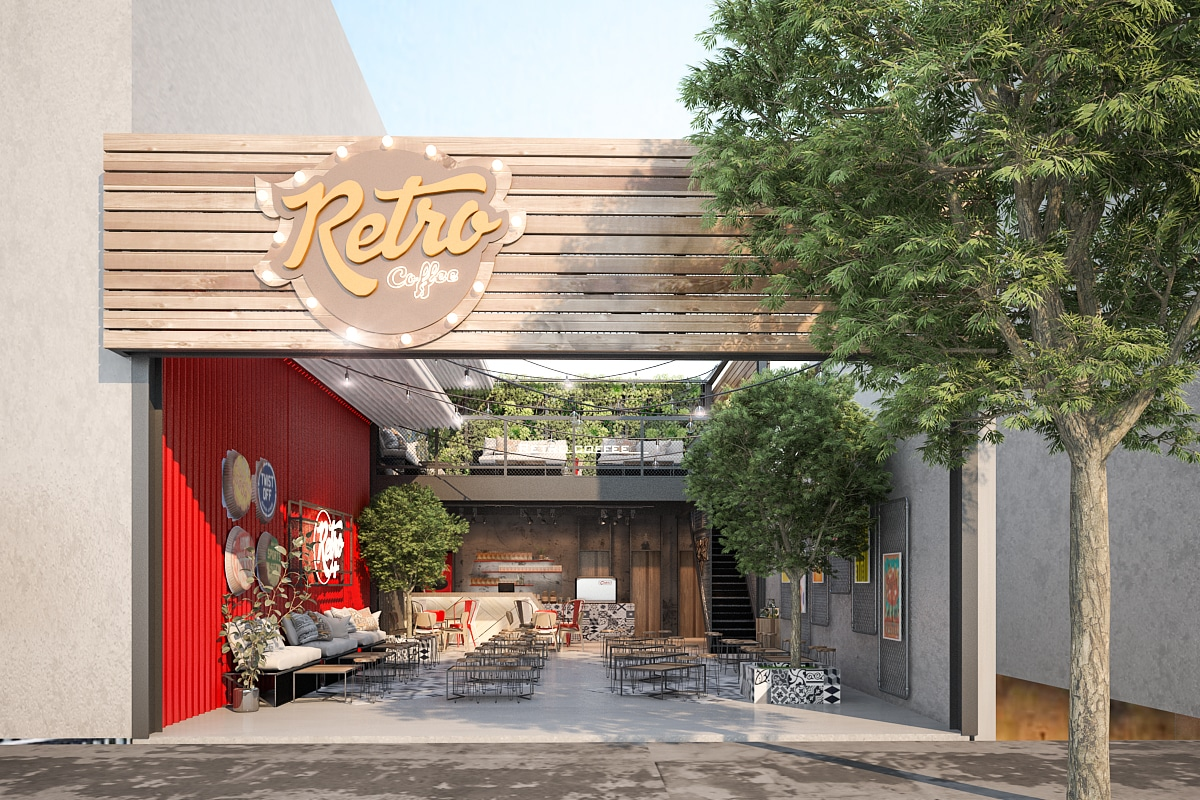 Quán cafe theo phong cách Retro