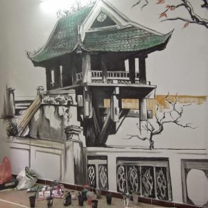 Vẽ tranh trang trí quán cafe đẹp