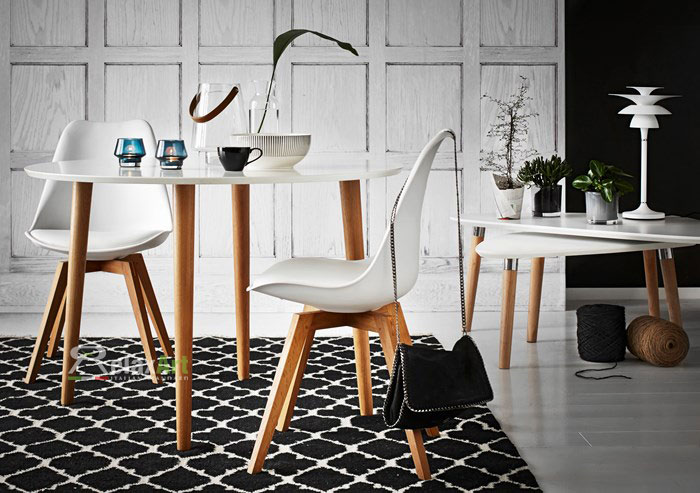Ghế eames - ghế cafe nhựa chân gỗ