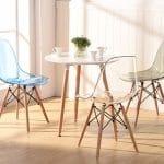 Top 5 mẫu bàn ghế cafe nhựa chân gỗ giá rẻ, bền, đẹp