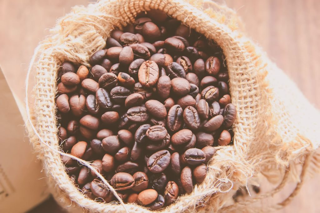 hạt cafe rang xay