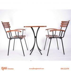 bàn ghế cafe ngoài trời cao cấp