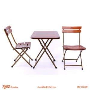 bàn ghế xếp cafe ngoài trời