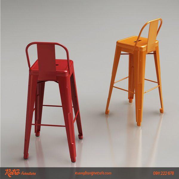 ghế bar cafe sắt sơn tĩnh điện
