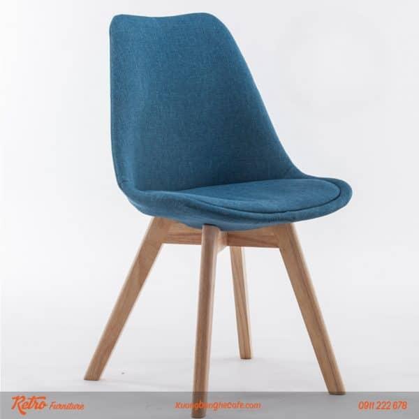 ghế nhựa chân gỗ cao cấp bọc nệm