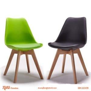 ghế nhựa chân gỗ bọc nệm nhập khẩu