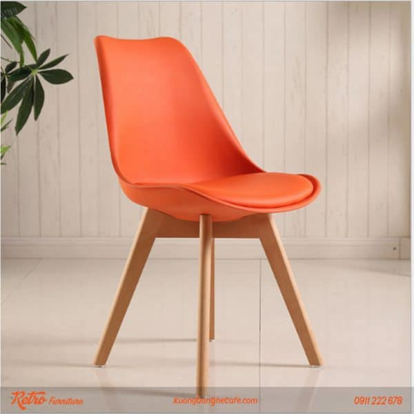 ghế nhựa cao cấp chân gỗ nhập khẩu