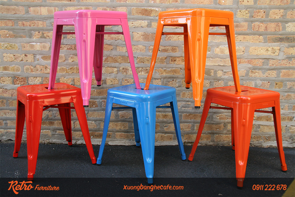 ghế cafe sắt sơn tĩnh điện