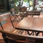 Bàn gỗ chân sắt – sự lựa chọn mới cho các quán cà phê