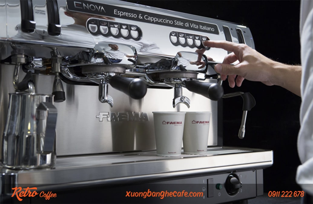 máy pha cafe 2 group Faema Enova Auto