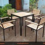 4 lý do nên chọn bàn ghế gỗ thông cho quán cafe
