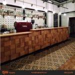 Những mẫu quầy bar đẹp trong thiết kế quán cafe, trà sữa