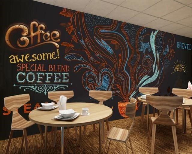 Bàn ghế cà phê làm nổi bật lên phong cách thiết kế của quán