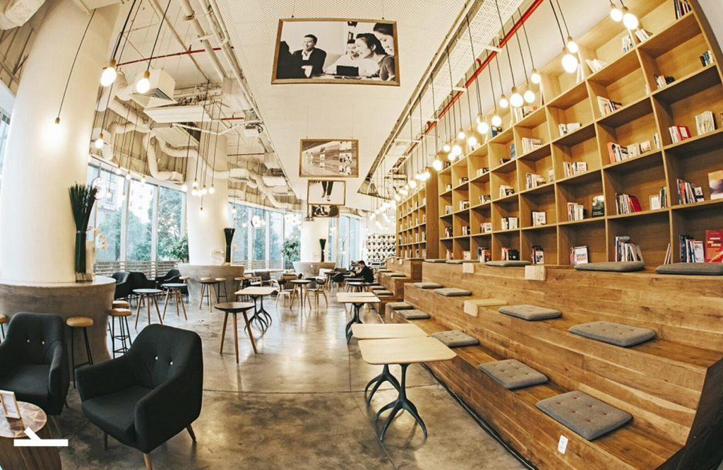 Mô hình quán cafe sách luôn là sự lựa chọn hàng đầu của các thực khách yêu thích sự yên tĩnh.