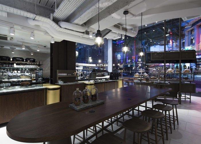 Quán cafe được trang trí theo phong cách hiện đại: Starbucks Coffee