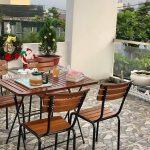 Bàn ghế khung sắt, lựa chọn hàng đầu khi mở quán cafe sân vườn