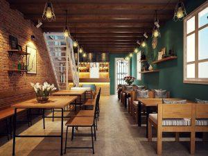 Bàn gỗ chân sắt chuyên dụng dành cho quán cafe