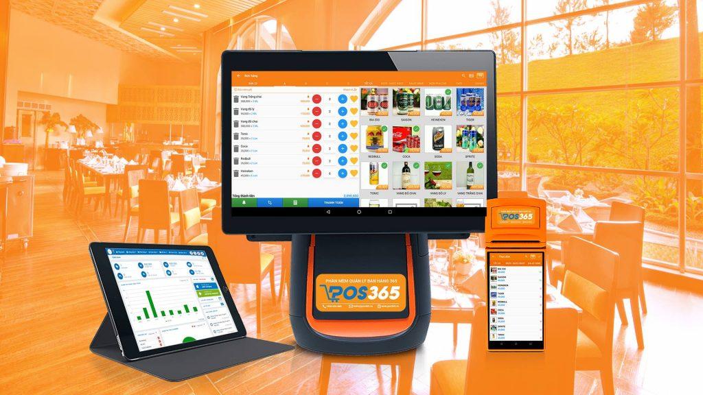 Phần mềm quản lý quán café POS365 có thể oder trên POS, máy tính bảng, điện thoại ...