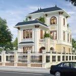 Mẫu thiết kế biệt thự 3 tầng tân cổ điển 160m2 đẳng cấp tại Nam Định