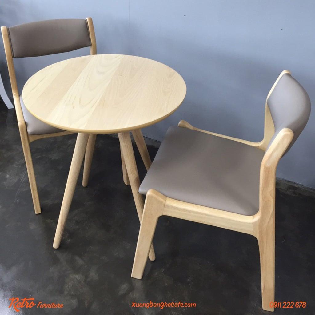 Ghế gỗ bọc nệm tựa lưng cao cấp
