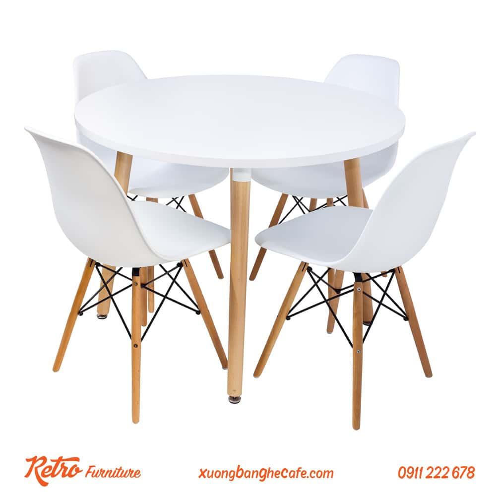 Mẫu bàn ghế gỗ tròn