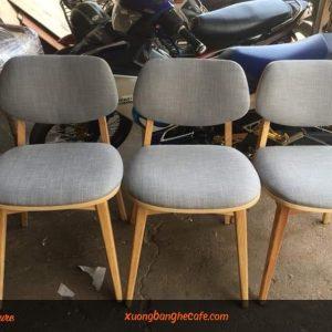 Mẫu ghế nệm vải nỉ êm ái