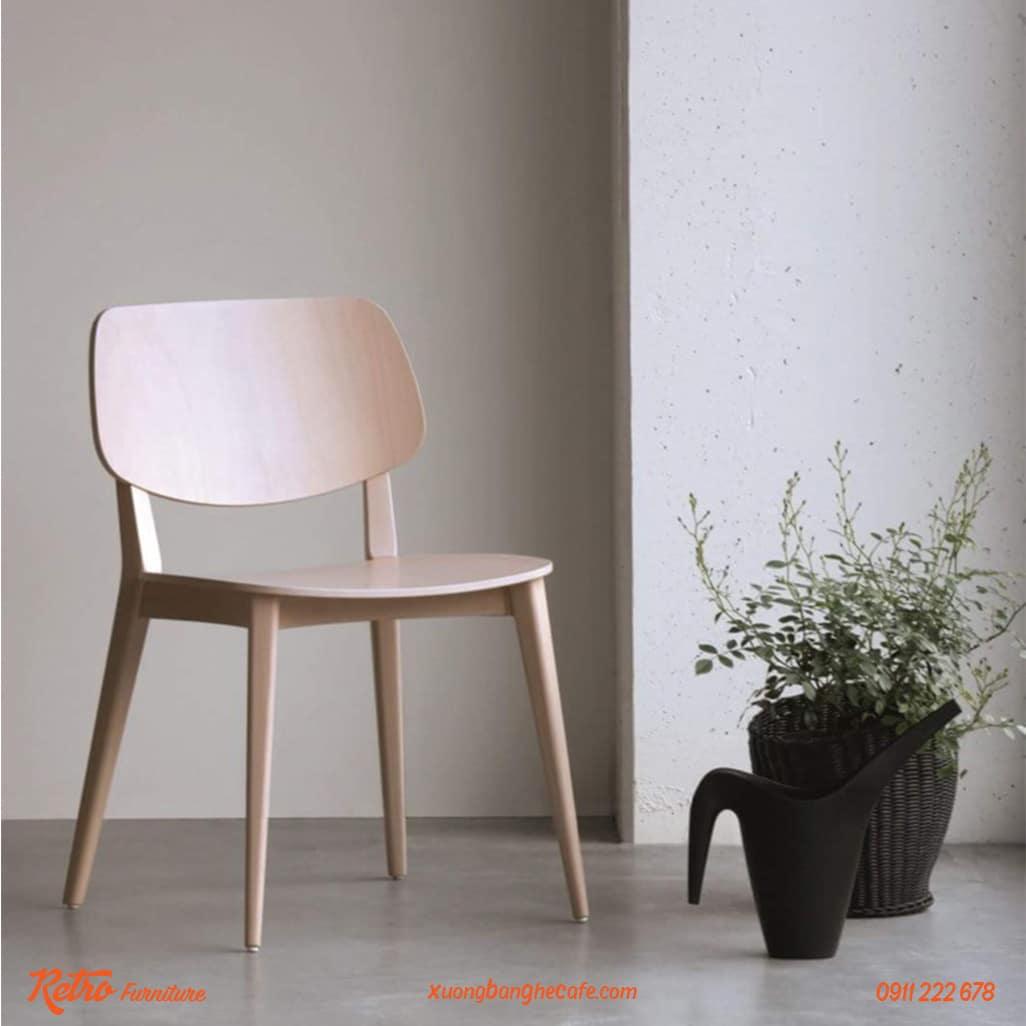 Ghế gỗ cafe cao cấp PLC