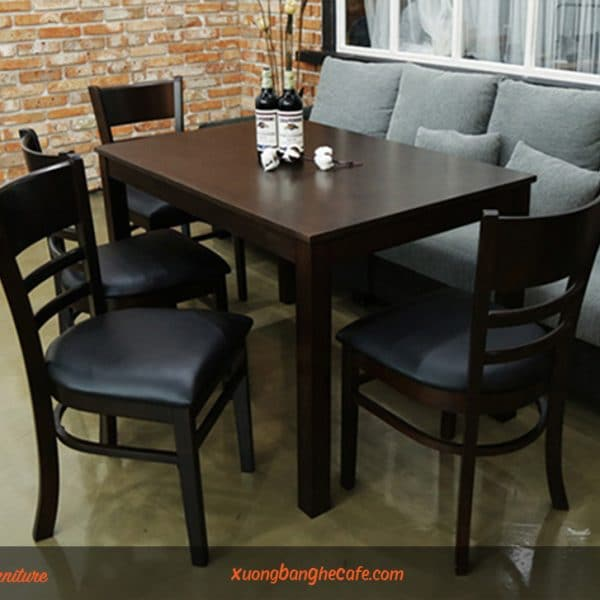 Mẫu bàn ghế cafe gỗ cao su bền, đẹp của Retro Furniture
