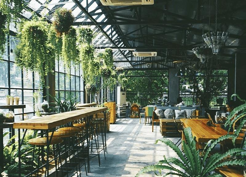 Thiết kế nhiều cây xanh làm cho không gian như một khu rừng nhiệt đới thu nhỏ