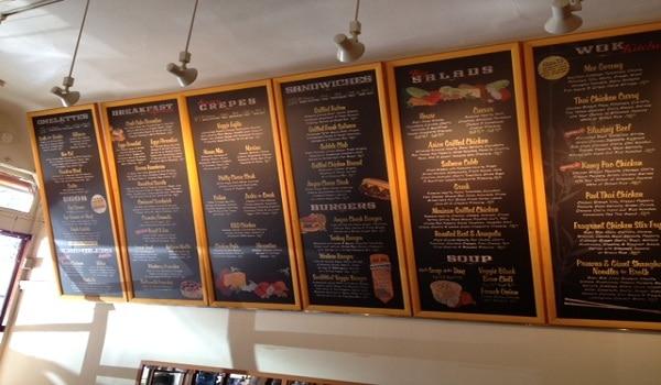 Mẫu menu cafe treo tường đầy đủ nội dung