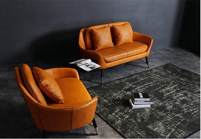 Ghế sofa với màu sắc tươi sáng