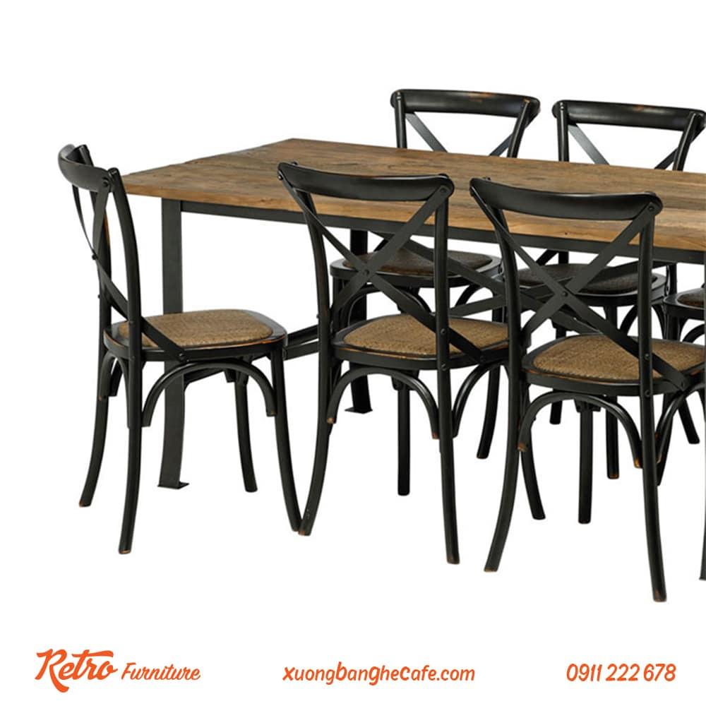 bàn ghế cafe retro vintage