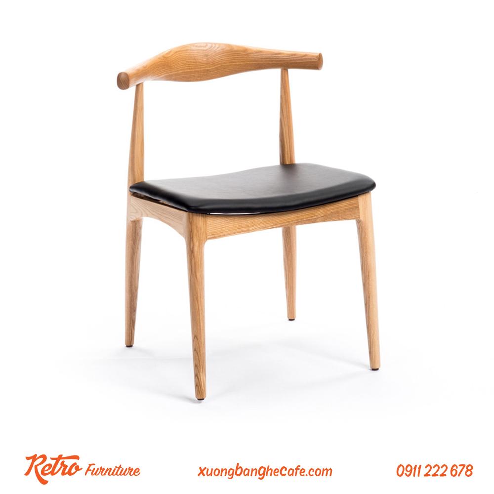 ghế cafe gỗ bull chair