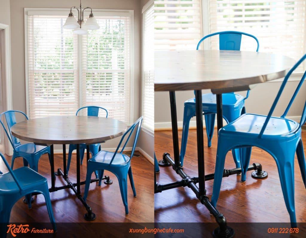 Bàn ghế cafe sắt