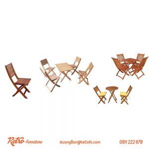 Bộ bàn ghế xếp cafe giá rẻ