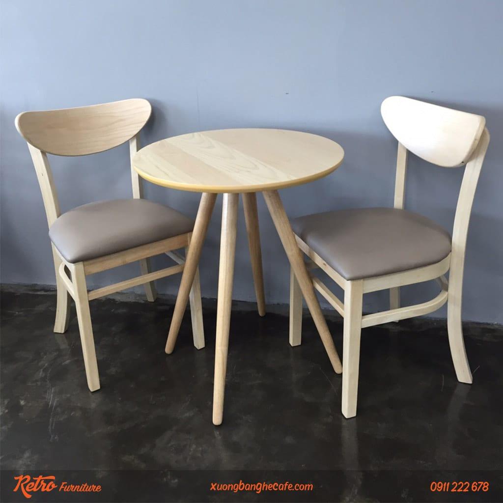 bàn ghế quán cafe gỗ giá rẻ