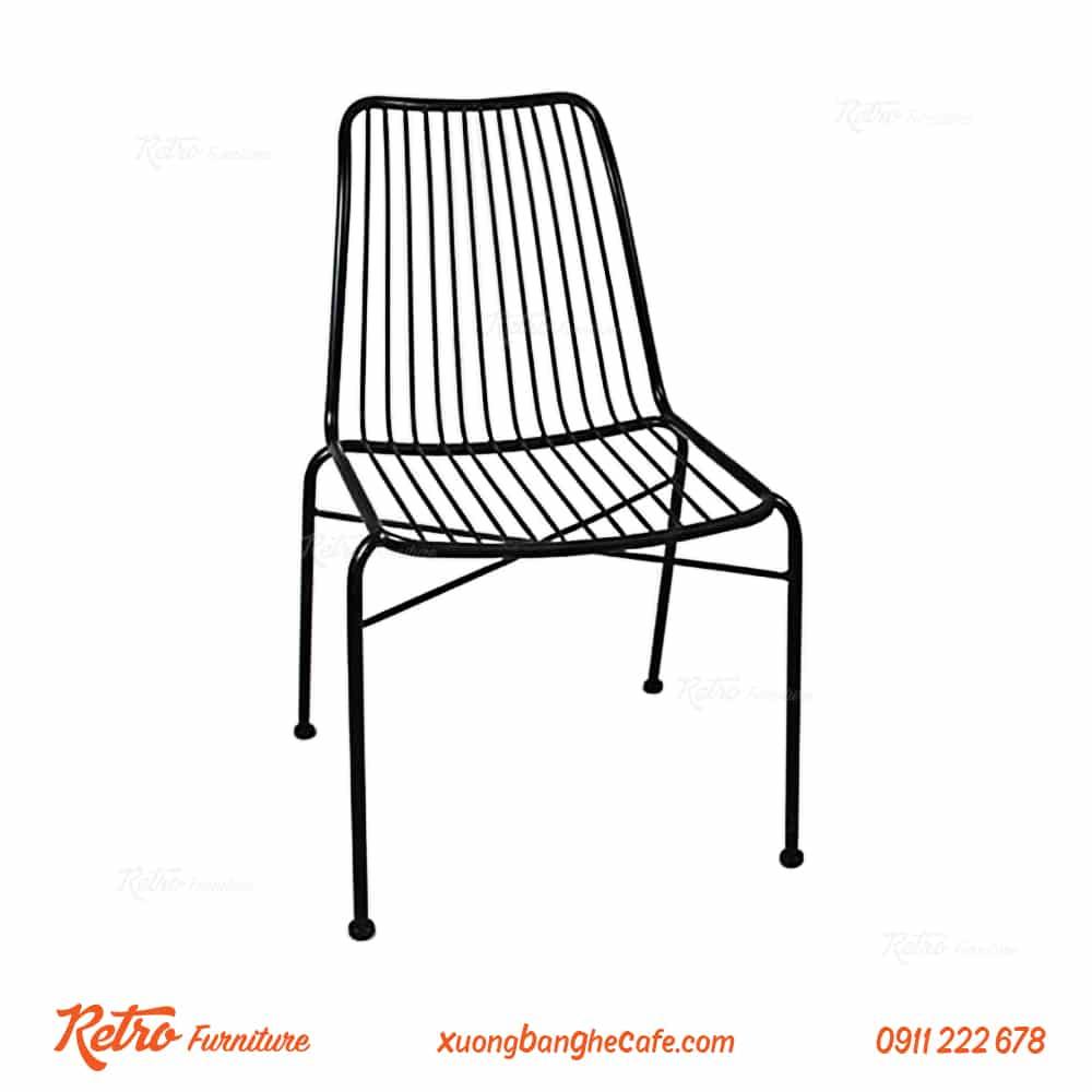 Sản phẩm ghế cafe sắt sơn tĩnh điện cao cấp F03