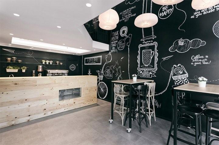 Biến hóa cùng các bức tường - Nội thất quán cafe giá rẻ