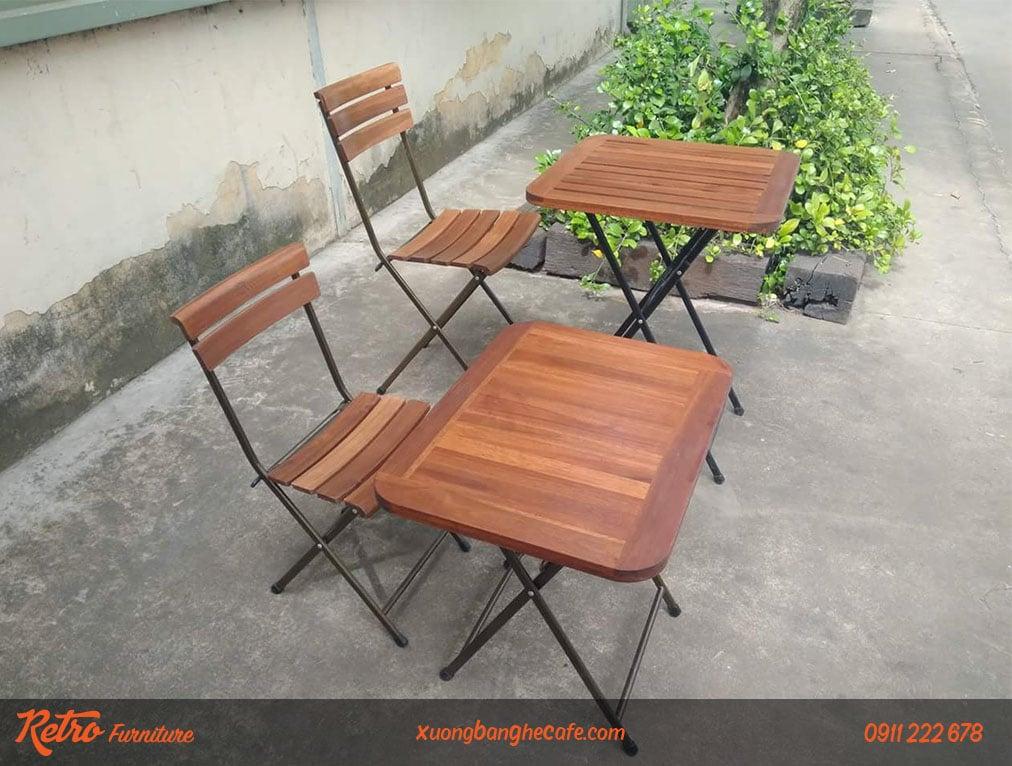 bàn ghế xếp quán cafe đẹp