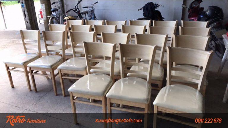 ghế gỗ nhà hàng quán cafe