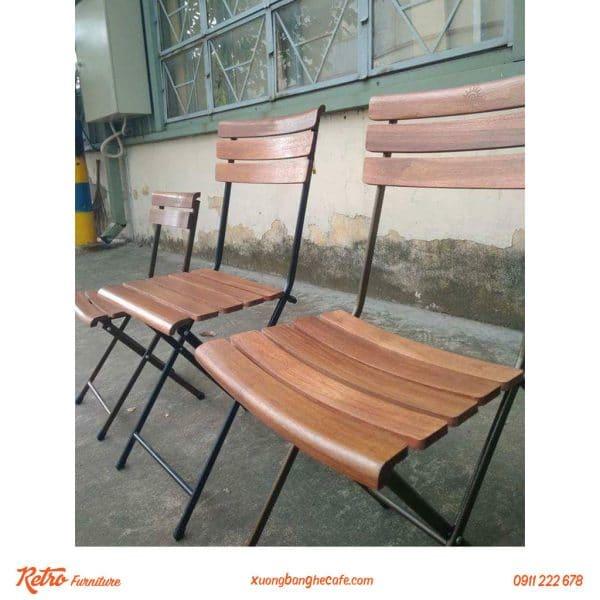 ghế xếp cafe sân vườn fansipan